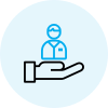 Employees retention rate icon of Hr Solutions App Webpage Malaysia