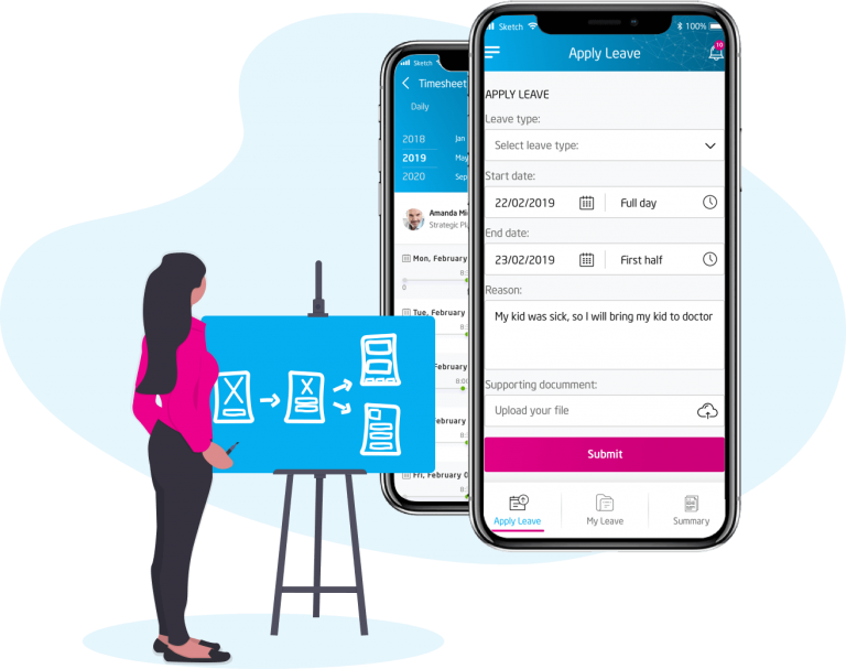 E-leaves, Attendance & Claim at PeopleX HRMS Solutions App Webpage Malaysia